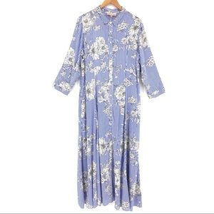 Philosophy Striped Floral Maxi Dress